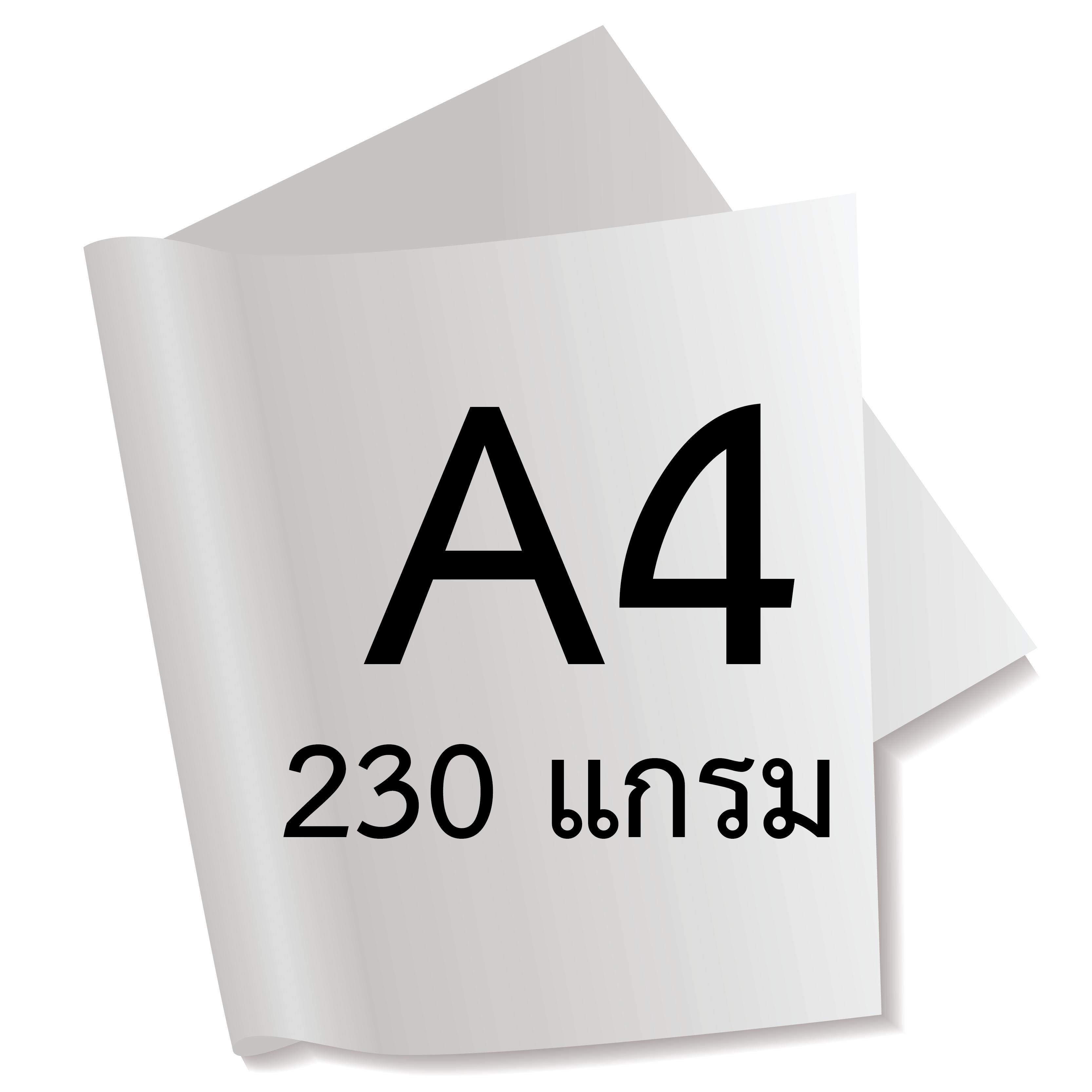 กระดาษอาร์ตการ์ดมัน 1 หน้า 230 แกรม A4