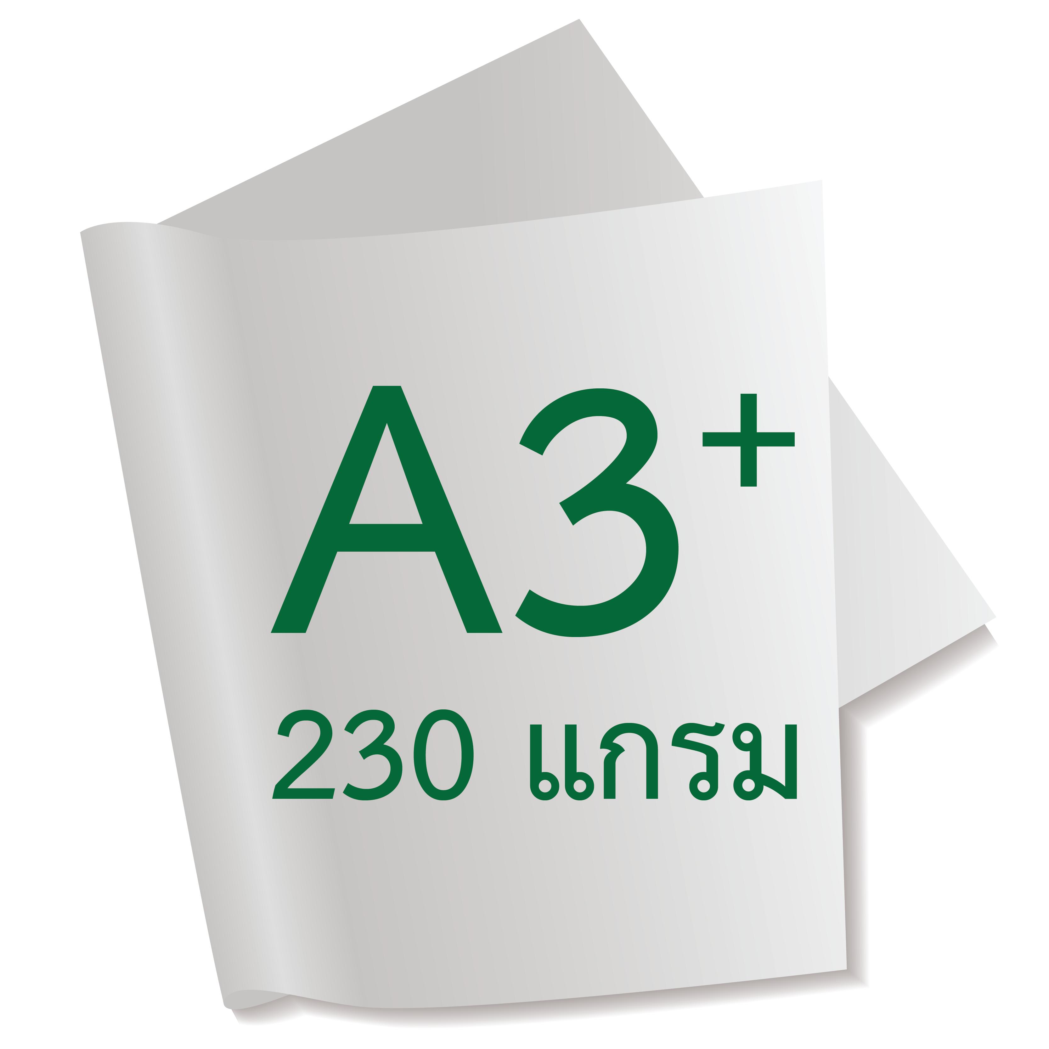 กระดาษอาร์ตการ์ดมัน 1 หน้า 230 แกรม/A3+ (500 แผ่น)