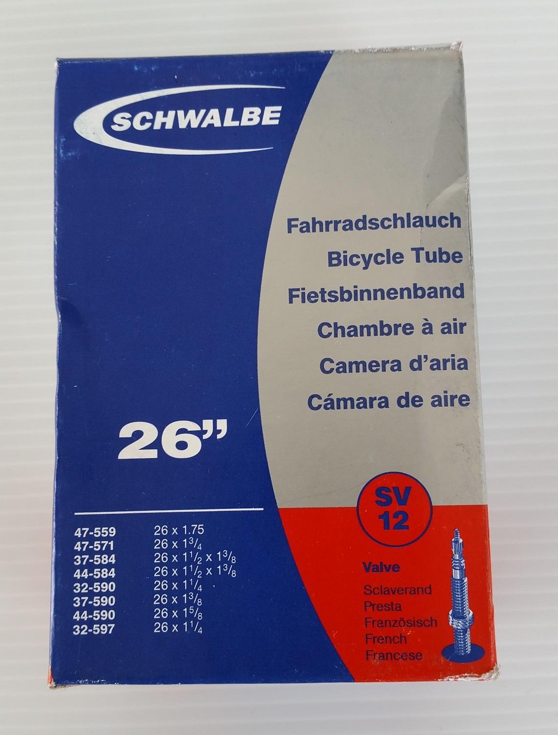 """ยางใน SCHWALBE SV12 26"""" (จุ๊บเล็ก)"""