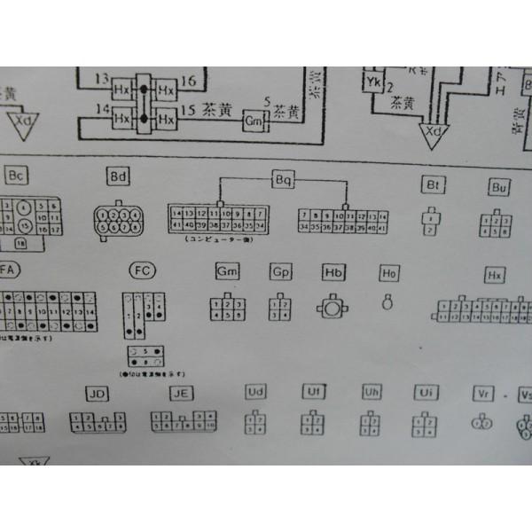หนังสือ WIRING DIAGRAM รถยนต์ DAIHATSU MOVE ทั้งคัน โฉมปี 1996 (เครื่องยนต์รุ่น EF-RL) (JP)