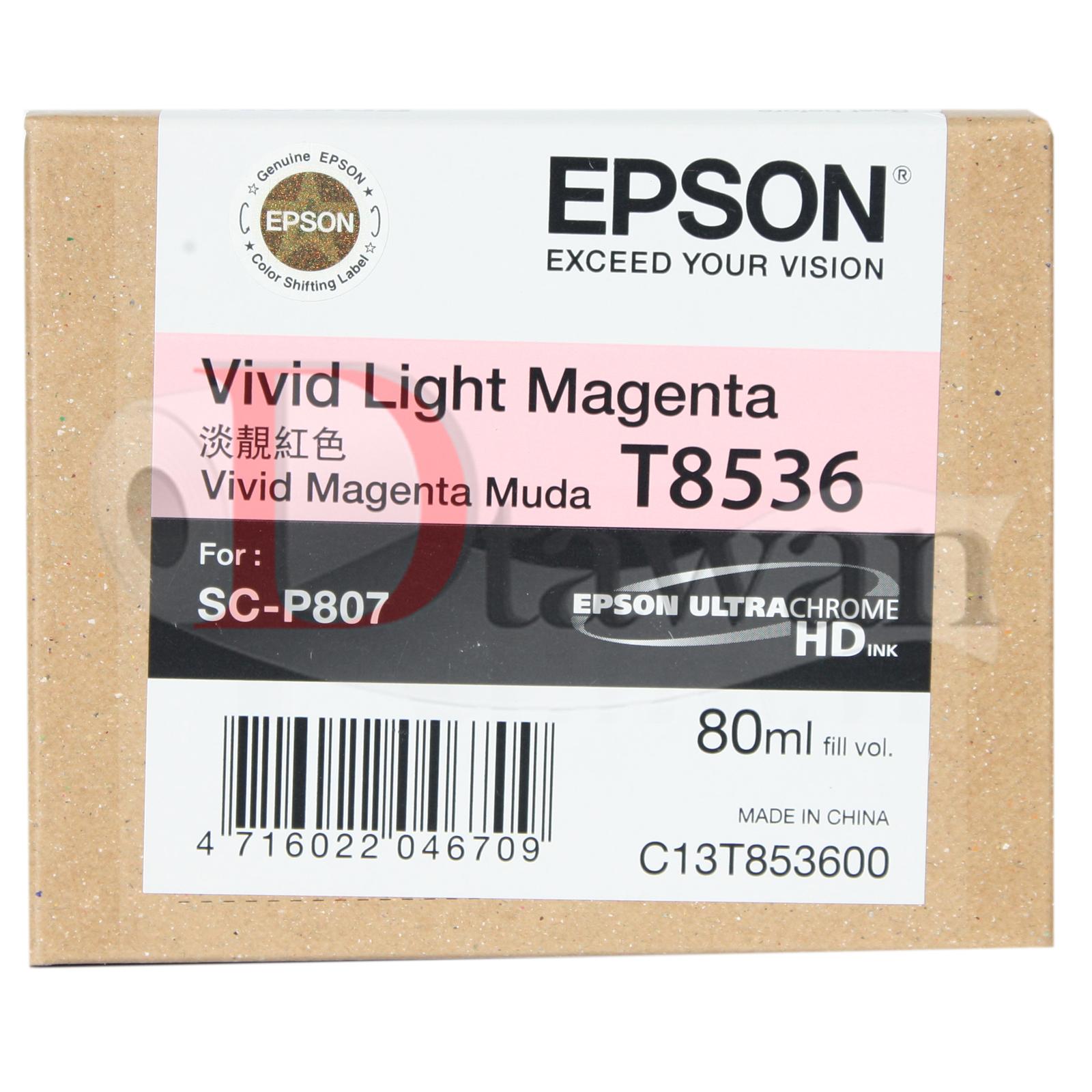 ตลับหมึกสำหรับ EPSON P807 รหัส T8536 สี LIGHT MAGENTA