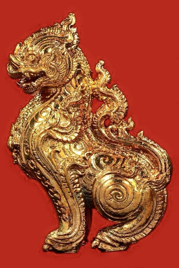 สิงห์จักรพรรดิ เนื้อทองแดงผิวไฟ หลวงพ่อสะอาด วัดเขาแก้ว