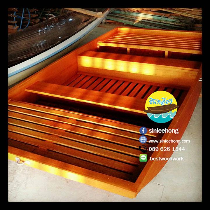 เรือไม้สัก พายเล่นในคลอง (ส่งทั่วประเทศ) ยาว 3 เมตร ไม้ตะเคียนทอง