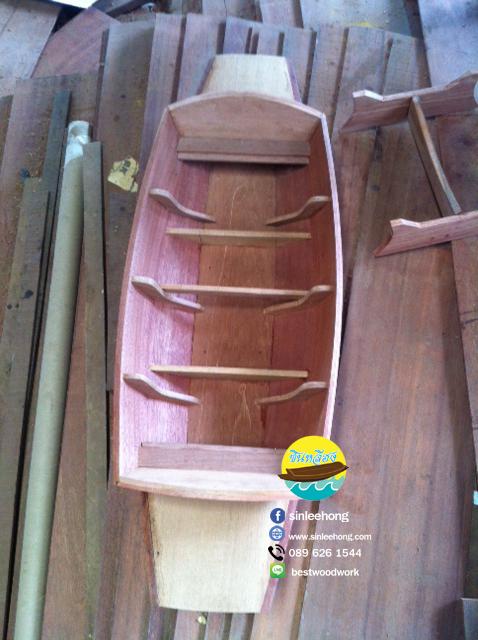 เรือไม้เต็ง ไม้เนื้อแข็ง เรือก๋วยเตี๋ยว ยาว 120 ซม (ส่งทั่วประเทศ)