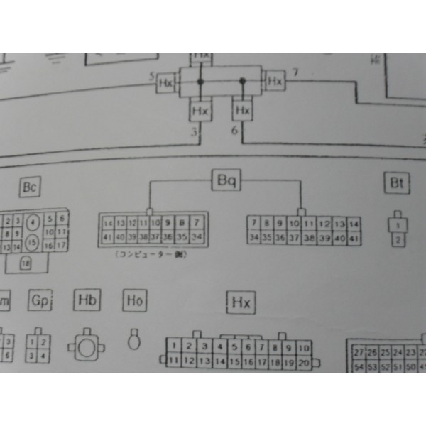 หนังสือ Wiring Diagram รถยนต์ DAIHATSU MOVE ทั้งคัน โฉมปี 1995 (เครื่องยนต์รุ่น EF-ZL) (JP)