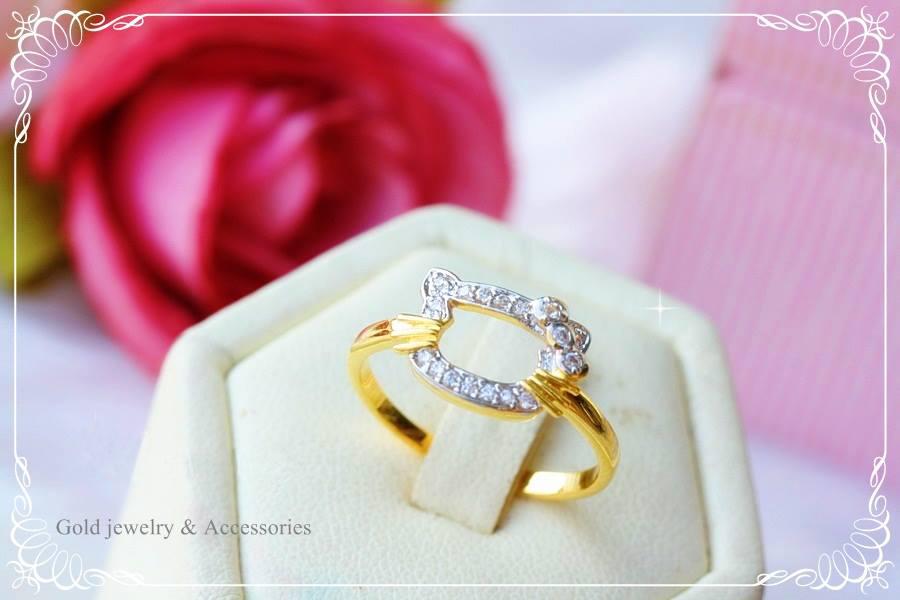 แหวนคิตตี้หุ้ม ทองคำแท้