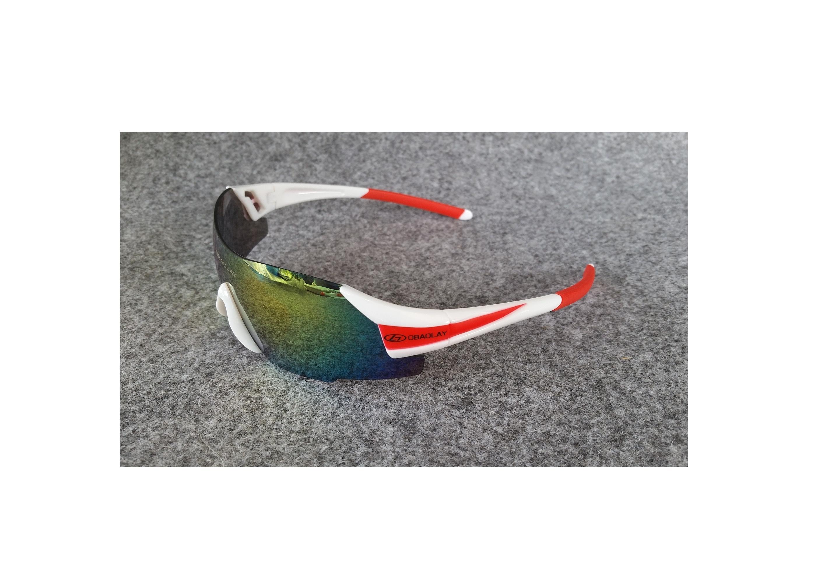 แว่นปั่นจักรยาน OBOALAY แบบไร้กรอบ ป้องกัน UV400