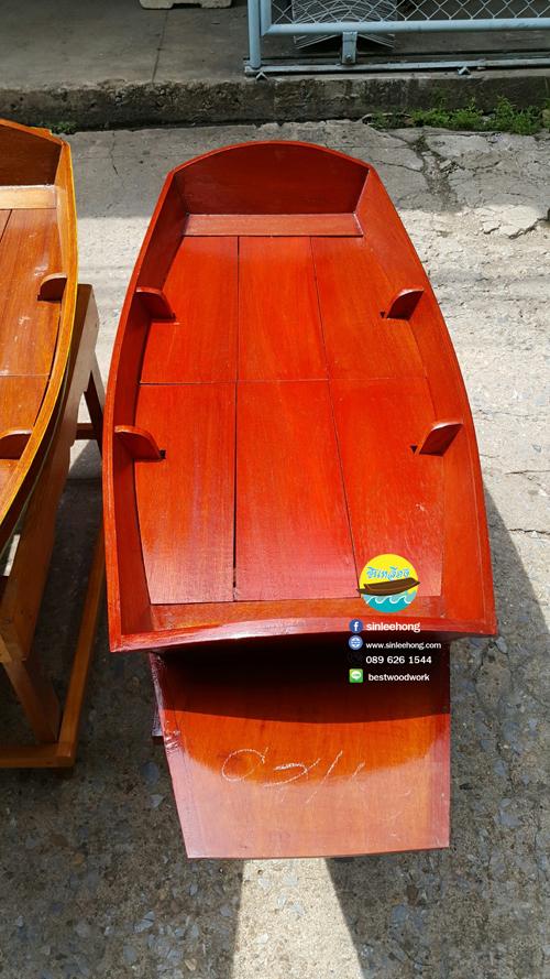 เรือไม้เต็ง ไม้เนื้อแข็ง เรือก๋วยเตี๋ยว ยาว 150 ซม (ส่งทั่วประเทศ)