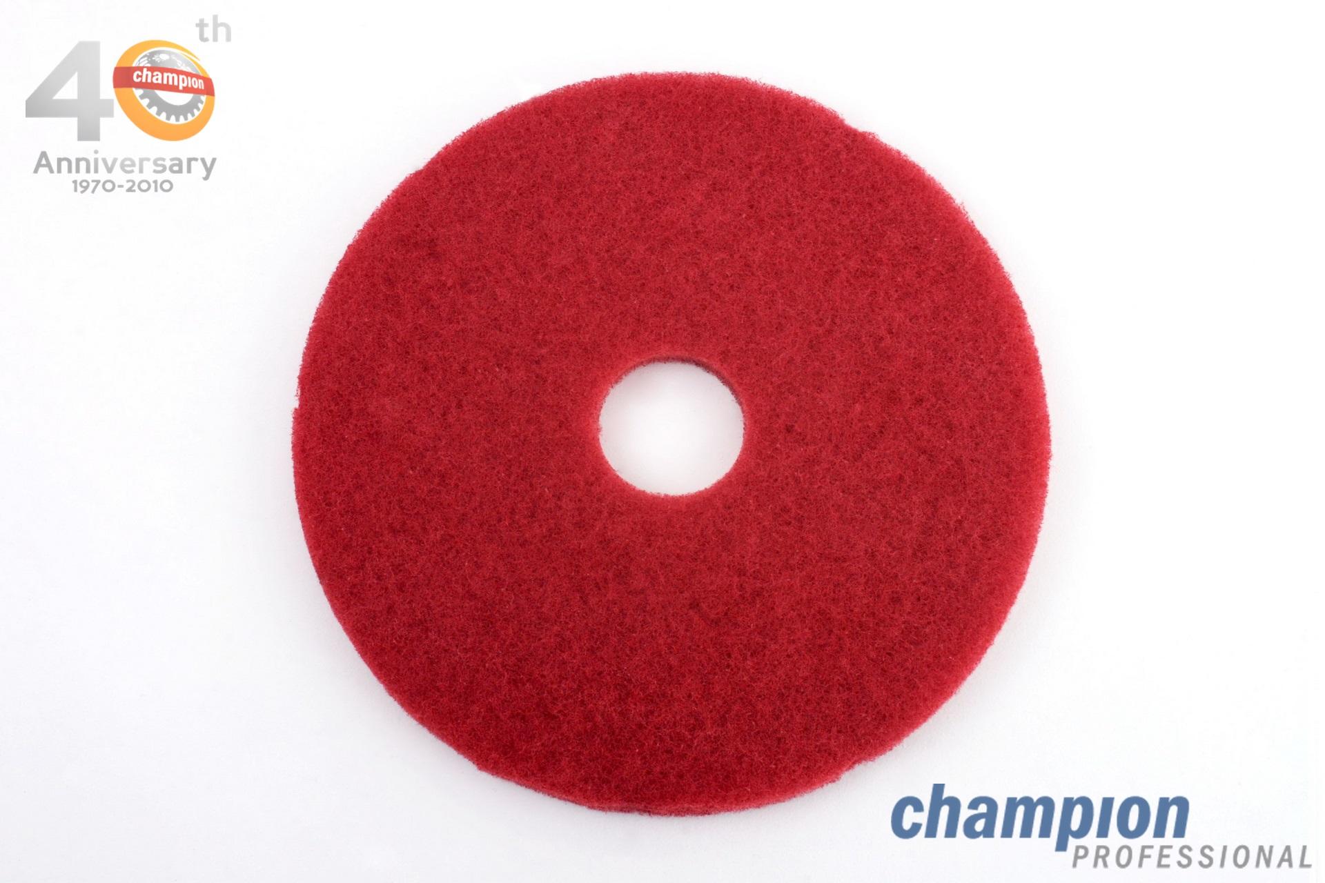 แผ่นปั่นเงาพื้น สีแดง ยี่ห้อ 3M รุ่น Red Buffer 5100