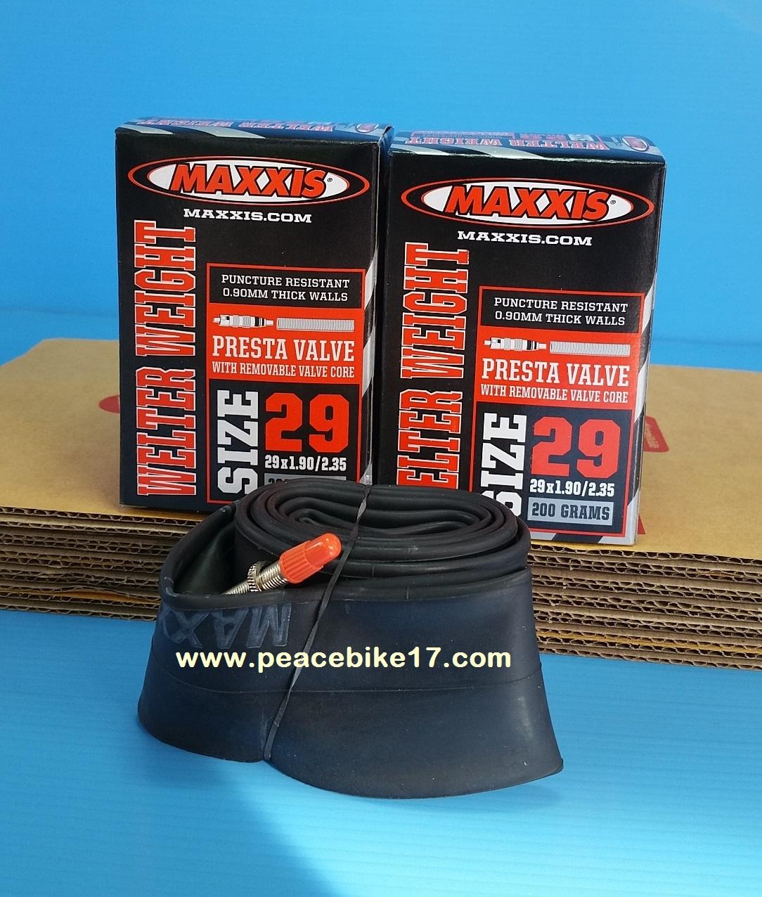ยางใน MAXXIS 29x1.90/2.35 (จุีบเล็ก) รุุ่น Welter Weight หนัก 140g.หนา 0.90 mm.