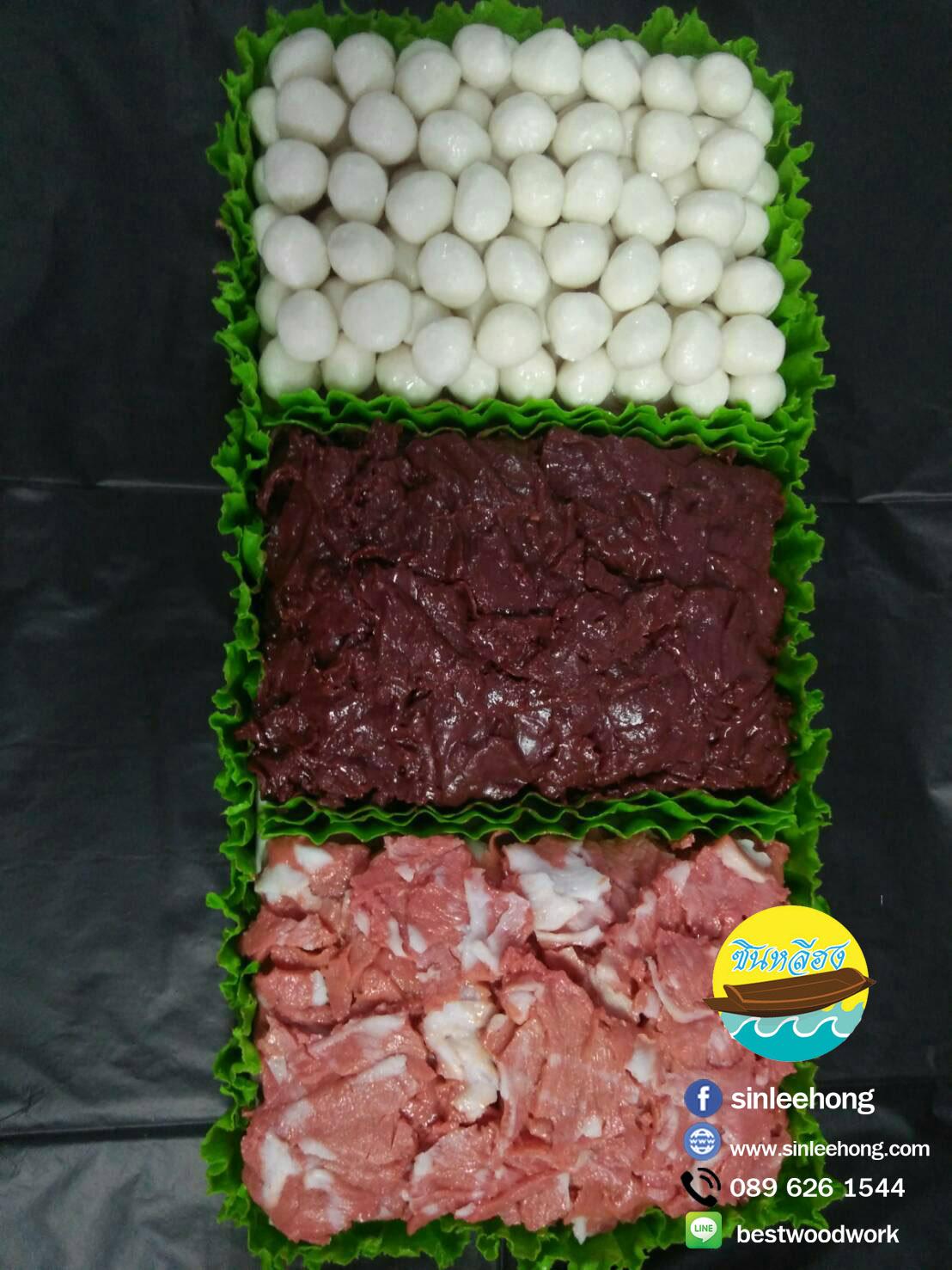 อาหารปลอม ลูกชิ้น ตับ เนื้อหมู (เนื้อวัว) (ส่งฟรีทั่วประเทศ)