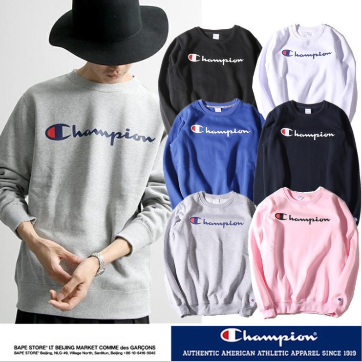 (Pre-Order) เสื้อ Champion Long Sleeve Logo Screen
