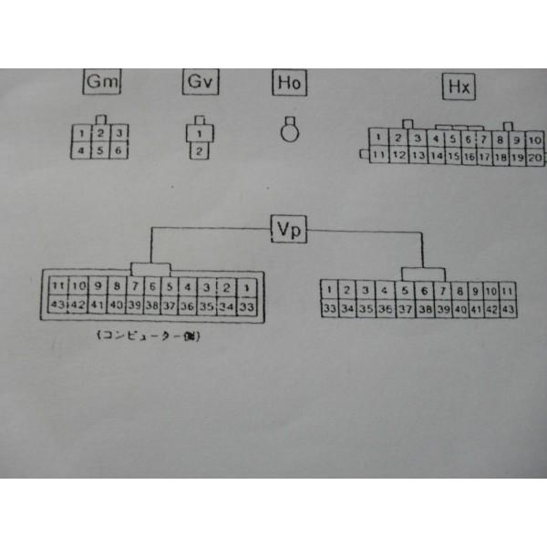 หนังสือ WIRING DIAGRAM รถยนต์ DAIHATSU MOVE ทั้งคัน โฉมปี 1995 (เครื่องยนต์รุ่น EF-GL) (JP)