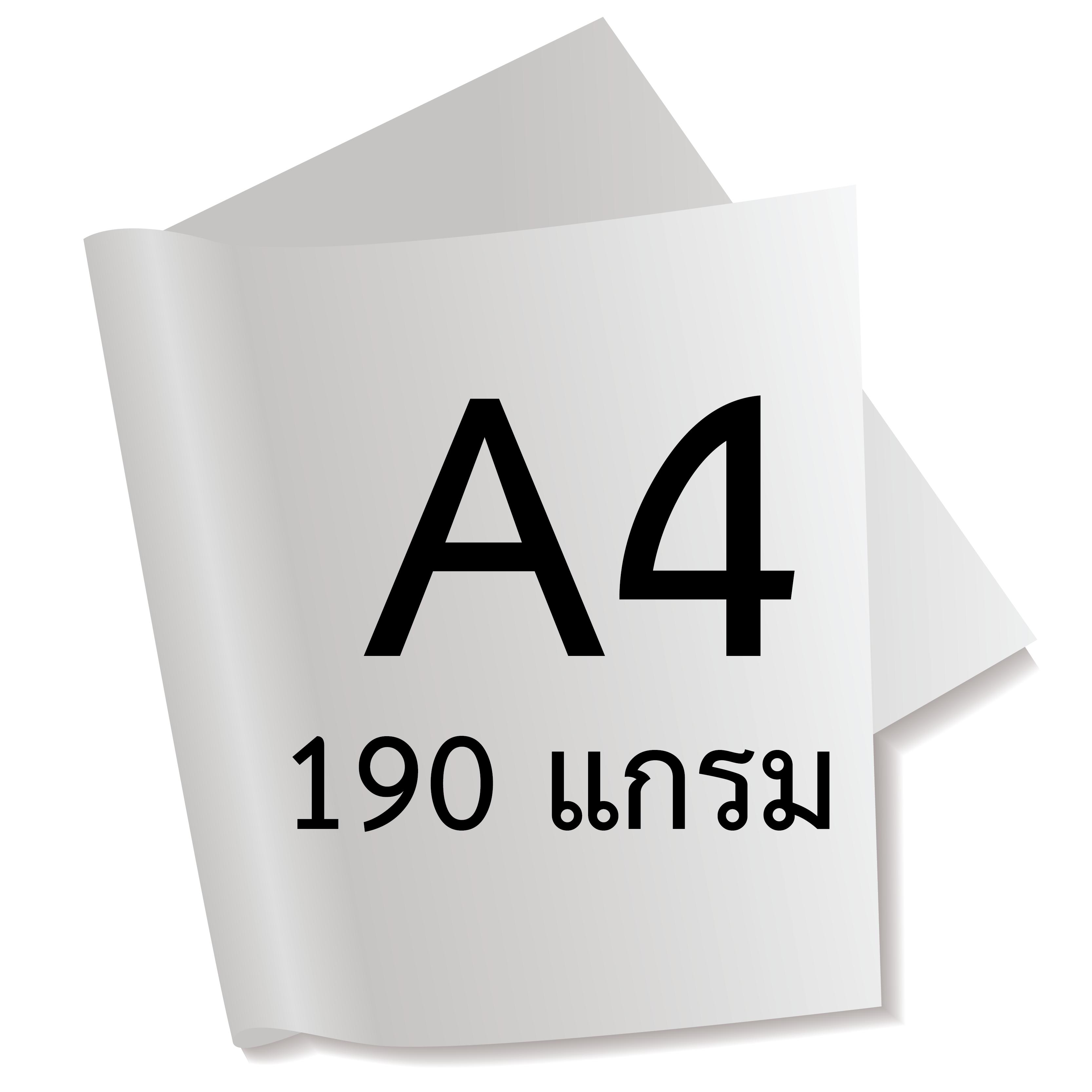 กระดาษอาร์ตการ์ดมัน 2 หน้า 190 แกรม A4