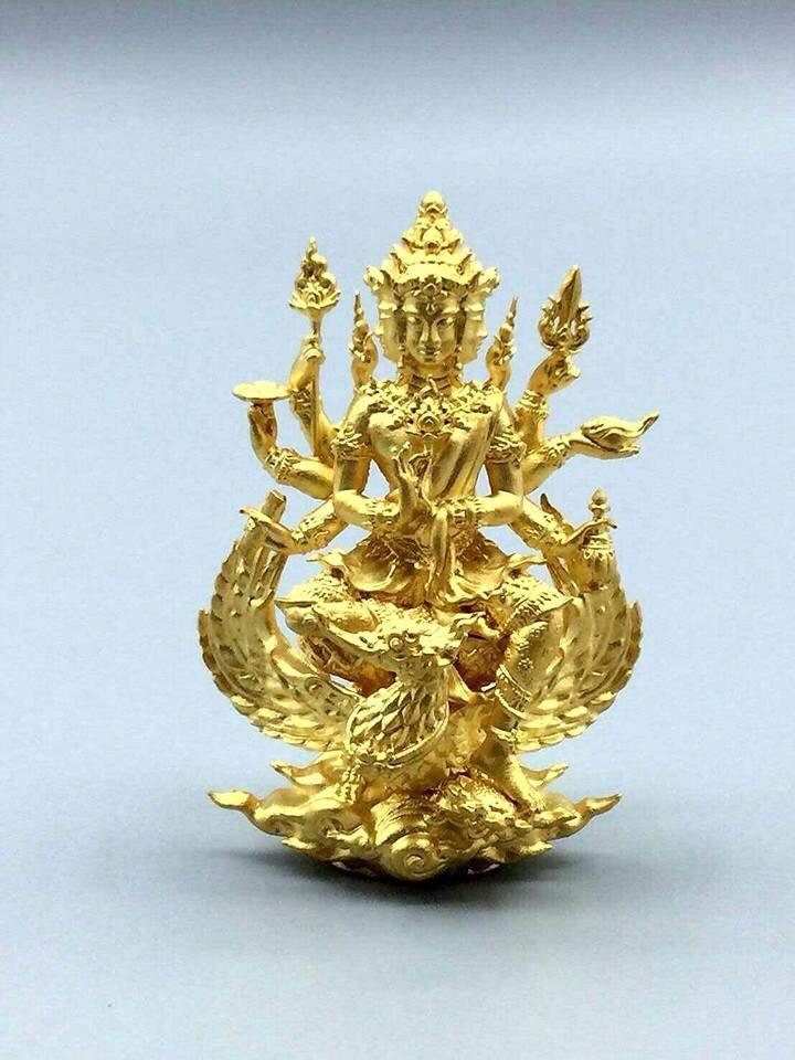 พระพรหมธาดามหาเศรษฐี รุ่นบุญเศรษฐี ขนาดห้อยคอ เนื้อทองล่ำอู่