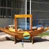 เรือสำปั้น 2 เมตร ไม้สักทอง พร้อมขาตั้ง ไม้พาย แถมป้ายมงคล พร้อมตู้ (ส่งฟรีทั่วประเทศ) แถมชุดว่ายน้ำ