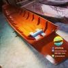 เรือไม้สัก เรืออีแปะ 500 ซม ชันยาเรือ ลงน้ำพายได้เลย แถมไม้พาย (ส่งทั่วประเทศ)