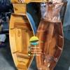 เรือสำปั้น 100 ซม ไม้สักทอง พร้อมขาตั้ง ไม้พาย แถมป้ายมงคล (ส่งฟรีทั่วประเทศ)