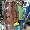 เรือสำปั้น 2 เมตร ไม้สักทอง พร้อมขาตั้ง ไม้พาย แถมป้ายมงคล (ส่งฟรีทั่วประเทศ)