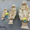 เรือสำปั้น 120 เมตร ไม้สักทอง พร้อมขาตั้ง ไม้พาย แถมป้ายมงคล (ส่งฟรีทั่วประเทศ) ไม่ทาสี