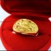 แหวนมังกรหุ้มทองคำแท้