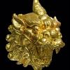 ปี่เซียะเรียกทรัพย์ เนื้อทองระฆังขัดเงา หลังอุดผงมวลสารเรียกโชค ฝั่งตะกรุดเรียกทรัพย์ 1 ดอก รุ่นมหาโชค โภคทรัพย์