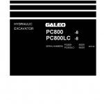 หนังสือ คู่มือซ่อม วงจรไฟฟ้า วงจรไฮดรอลิก จักรกลหนัก PC800-8, PC800LC-8 50001 (ทั้งคัน) EN