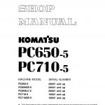 หนังสือ คู่มือซ่อม วงจรไฟฟ้า วงจรไฮดรอลิก จักรกลหนัก PC650-5, PC650SE-5, PC650LC-5 20001 , PC710-5, PC710SE-5 10001 (ทั้งคัน) EN