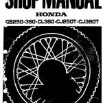 CD คู่มือซ่อม วงจรไฟฟ้า มอเตอร์ไซค์ Honda CB250, CB360, CL360, CJ250T, CJ360T (EN)