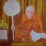ภาพวาด หลวงพ่อเฮง คังคสุวัณโณ วัดมหาโพธิ์ใต้อ.เก้าเลี้ยว จ.นครสวรรค์