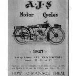CD คู่มือซ่อม มอเตอร์ไซค์ AJS 3.46 H.P. 3-Speed ปี 1927 (EN)