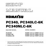 หนังสือ คู่มือซ่อม วงจรไฟฟ้า วงจรไฮดรอลิก จักรกลหนัก PC340-6K K32001 K34001 , PC340LC-6K K32001,K34001 , PC340NLC-6K K32001,K34001 (ทั้งคัน) EN