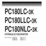 หนังสือ พาสนัมเบอร์อะไหล่ ( Parts Book ) จักรกลหนัก Komatsu PC180LC-3K K10001 , PC180LLC-3K K10001 , PC180NLC-3K K10001 (ทั้งคัน) EN