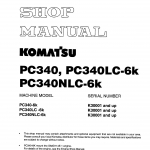 หนังสือ คู่มือซ่อม วงจรไฟฟ้า วงจรไฮดรอลิก จักรกลหนัก PC340-6K,PC340LC-6K,PC340NLC-6K K30001(ทั้งคัน) EN