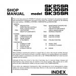 หนังสือ คู่มือซ่อม Kobelco Hydraulic Excavator SK25SR , SK30SR , SK35SR (ข้อมูลทั่วไป ค่าสเปคต่างๆ วงจรไฟฟ้า วงจรไฮดรอลิกส์)