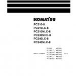 หนังสือ คู่มือซ่อม วงจรไฟฟ้า วงจรไฮดรอลิก จักรกลหนัก PC210-8 K50001 , PC210LC-8 K50001 , PC210NLC-8 K50001 , PC230NHD-8 K50001 , PC240LC-8 K50001 , PC240NLC-8 K50001 (ทั้งคัน) EN