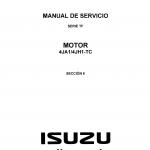 หนังสือ คู่มือซ่อมเครื่องยนต์ และวงจรไฟฟ้า Wiring Diagram 4JA1, 4JH1 ภาษาอังกฤษ