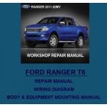CD คู่มือซ่อม และ WIRING DIAGRAM FORD NEW RANGER T6 2012