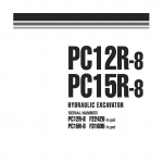 หนังสือ คู่มือซ่อม วงจรไฟฟ้า วงจรไฮดรอลิก จักรกลหนัก PC12R-8 F22426 , PC15R-8 F31605 (ทั้งคัน) EN