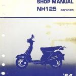 CD คู่มือซ่อม วงจรไฟฟ้า มอเตอร์ไซค์ Honda NH125 Aero125'84 (EN)