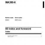 หนังสือ คู่มือซ่อม วงจรไฟฟ้า วงจรไฮดรอลิก จักรกลหนัก WA380-6 H60051 (ทั้งคัน) EN