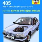 คู่มือซ่อม วงจรไฟฟ้า (wiring diagram) รถยนต์ peugeot 405 '88 - 1993