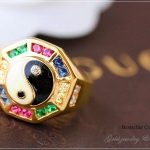 แหวนหยินหยางพุทธคุณ หนุนดวงชะตา2