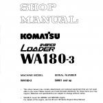 หนังสือ คู่มือซ่อม วงจรไฟฟ้า วงจรไฮดรอลิก จักรกลหนัก Komatsu Avance Loader WA180-3 (ทั้งคัน) EN