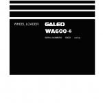 หนังสือ คู่มือซ่อม วงจรไฟฟ้า วงจรไฮดรอลิก จักรกลหนัก WA600-6 60001 (ทั้งคัน) EN