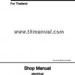 หนังสือ คู่มือซ่อม วงจรไฟฟ้า MITSUBISHI FUSO FV 6M70-T3 EURO 3 ปี '07-15