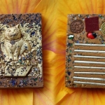 หนูดูดนมแมวเนื้อว่านดอกไม้ทอง ปิดทอง หลังฝั่งตะกรุด 8 ดอก สร้าง 999 องค์ หลวงปู่ถ้า อนาลโย