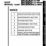 หนังสือ คู่มือซ่อม วงจรไฟฟ้า วงจรไฮดรอลิก จักรกลหนัก Kobelco Hydraulic Excavator SK230, SK250 (ทั้งคัน) EN