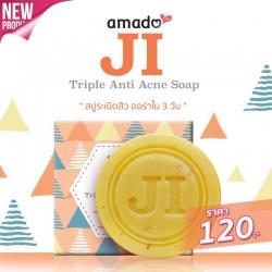 Amado mini JI อมาโด้ มินิ เจไอ Triple Anti Acne Soap สบู่ระเบิดสิว ออร่าใน 3 วัน