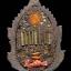 เศียรเทพพญาครุฑเนื้อนวะโลหะหล่อเทดินไทยฝั่งตะกรุดเงิน 8 ดอก ครูบาอริยชาติ thumbnail 4